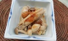 キノコと手羽中のポン酢煮